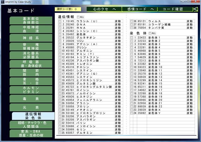 波動コード表